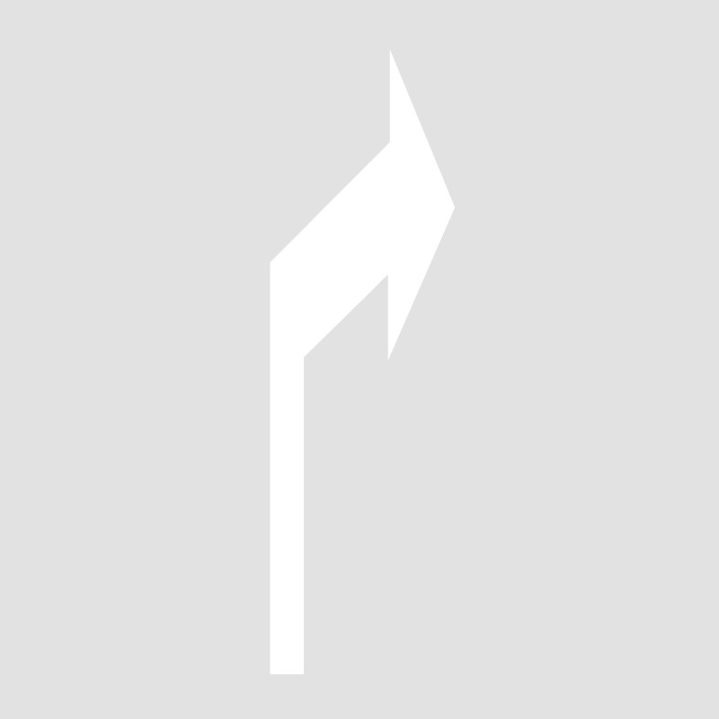 Plantilla pintar flecha de dirección o de selección de carril derecho 75x155