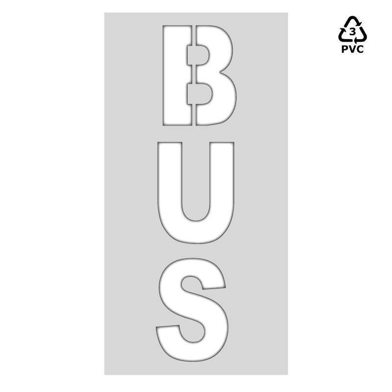 Plantilla señalización BUS (una pieza)
