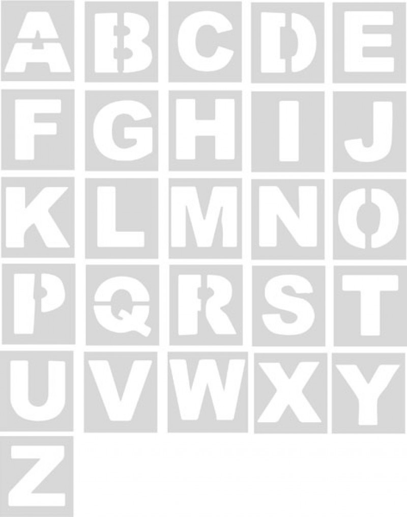 Plantillas abecedario (unidad) Pol 50cm