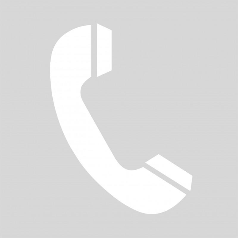 Plantilla para pintar signo teléfono en suelo o paredes