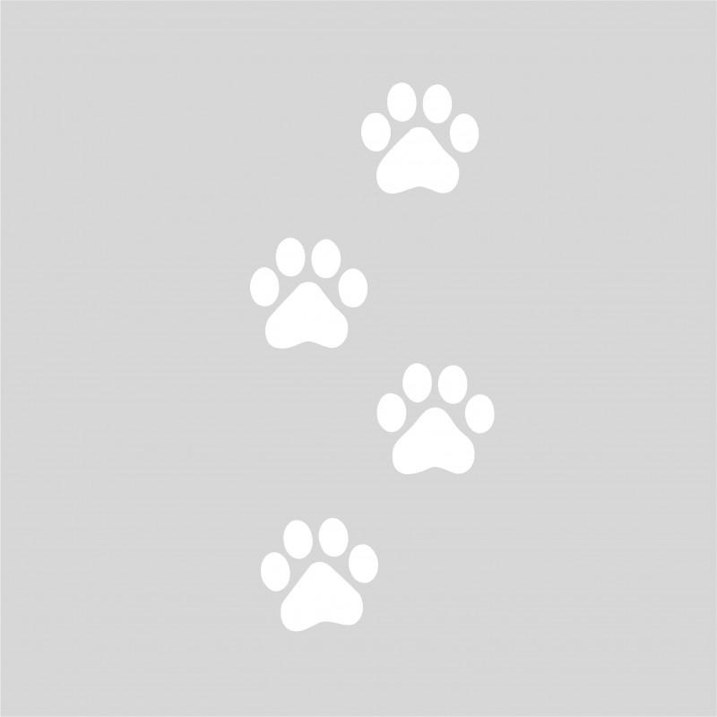 Plantilla para pintar 4 huellas pisadas oso