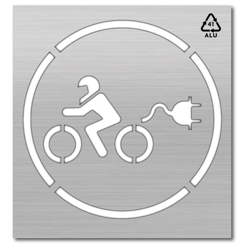 Plantilla punto carga moto eléctrica