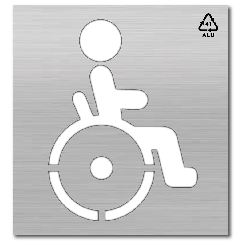 Plantilla pintar señal accesible silla ruedas