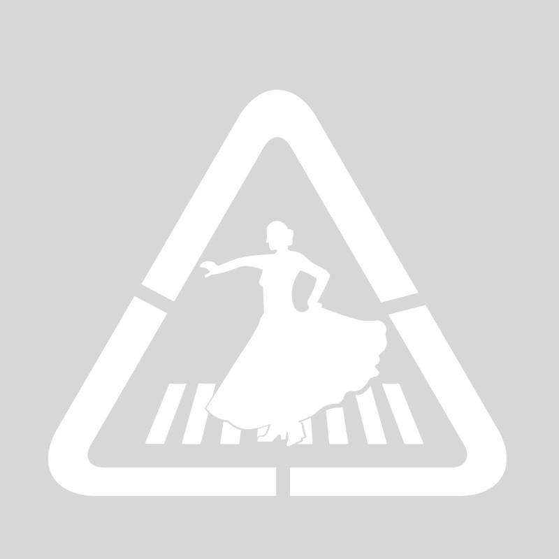 """Plantilla pintar señal p-20 Paso de Peatones """"flamenca"""""""