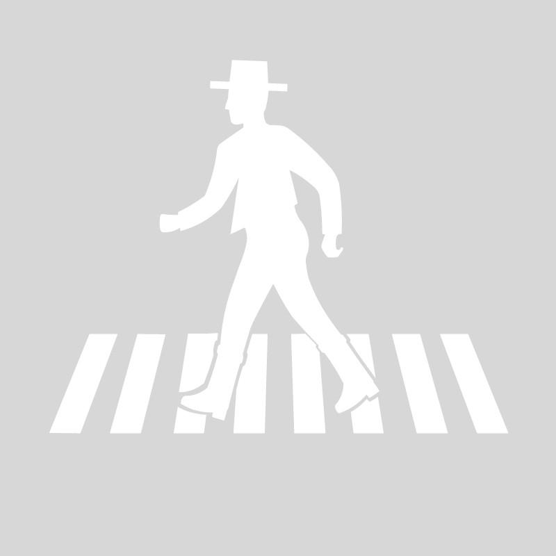 Plantilla pintar señal Paso de Peatones Flamenco Feria de Abril