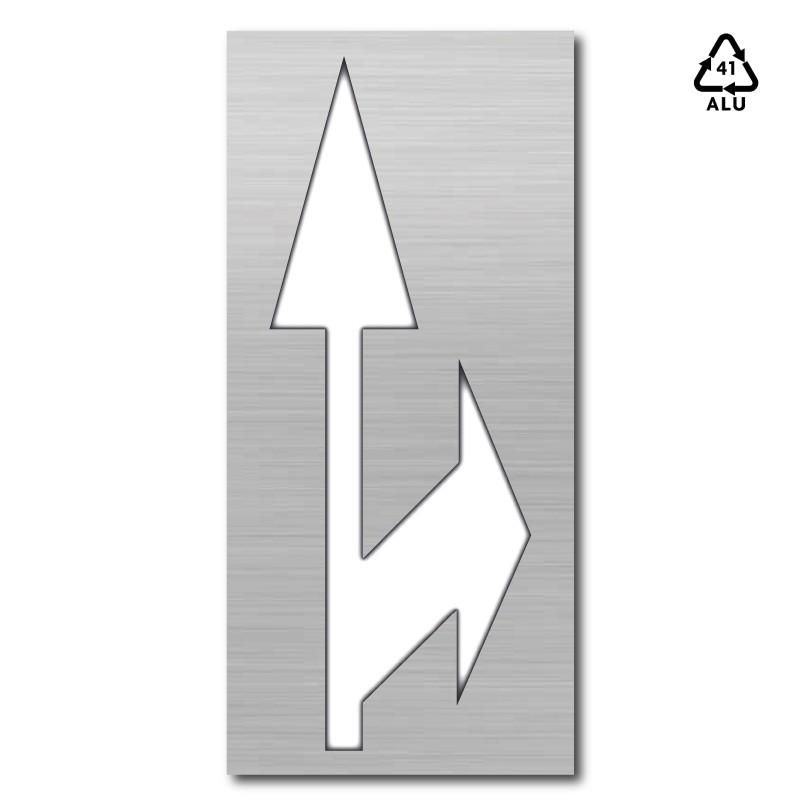 Plantilla pintar flecha de dirección o de selección de carriles