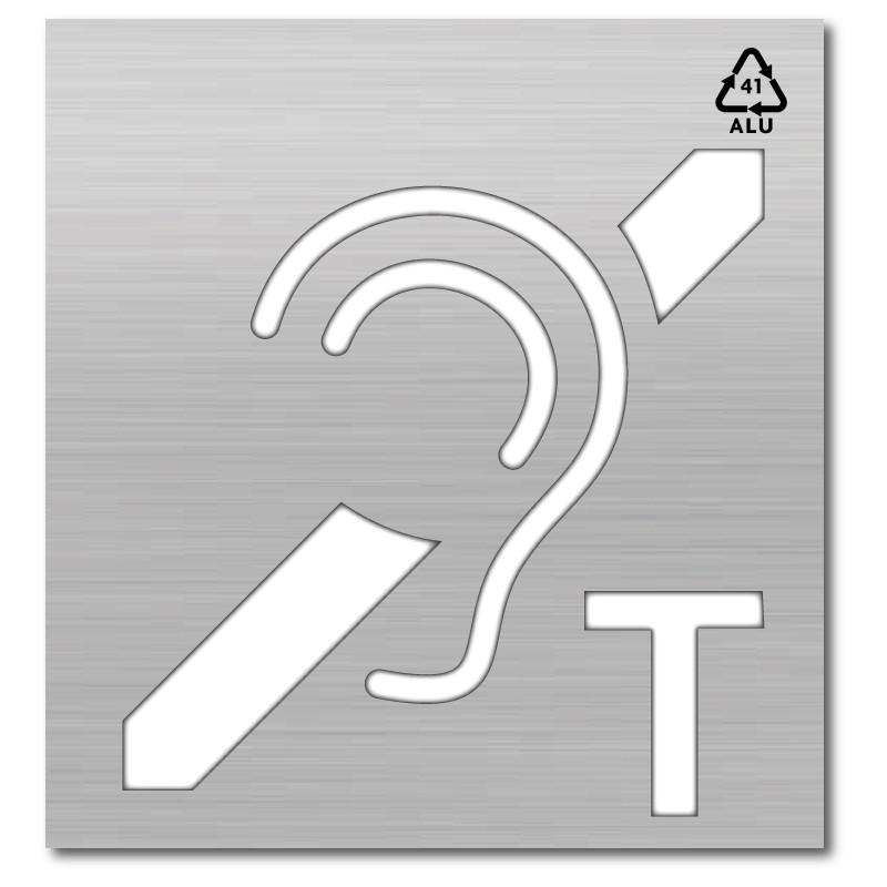 Plantilla pintar señal accesibilidad para personas sordas