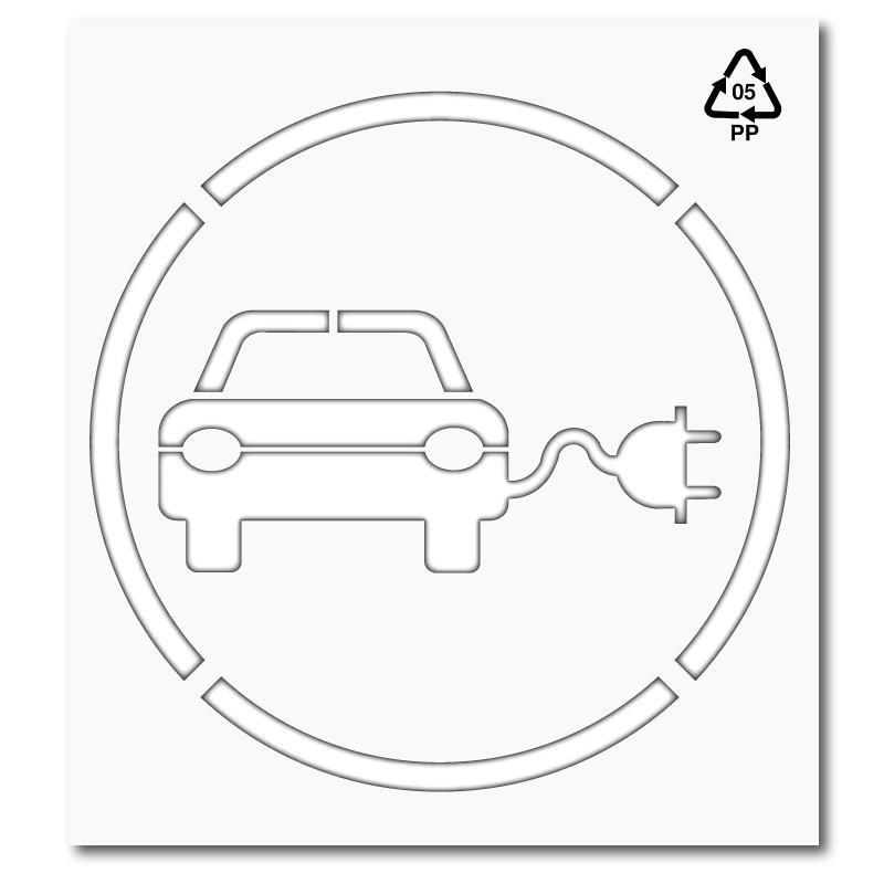 Plantilla para pintar y marcar signo coche eléctrico polipropileno ...