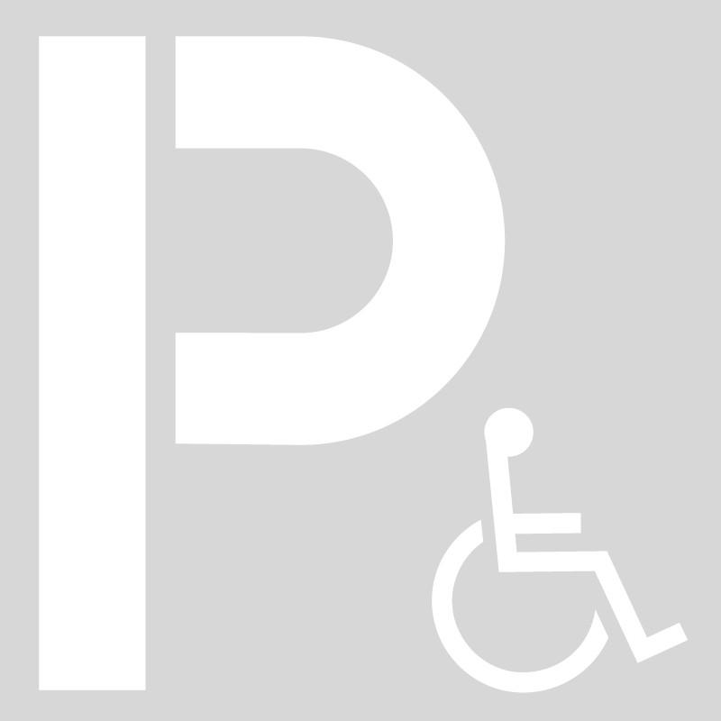 Plantilla pintar señal P parking discapacitados / minusválidos