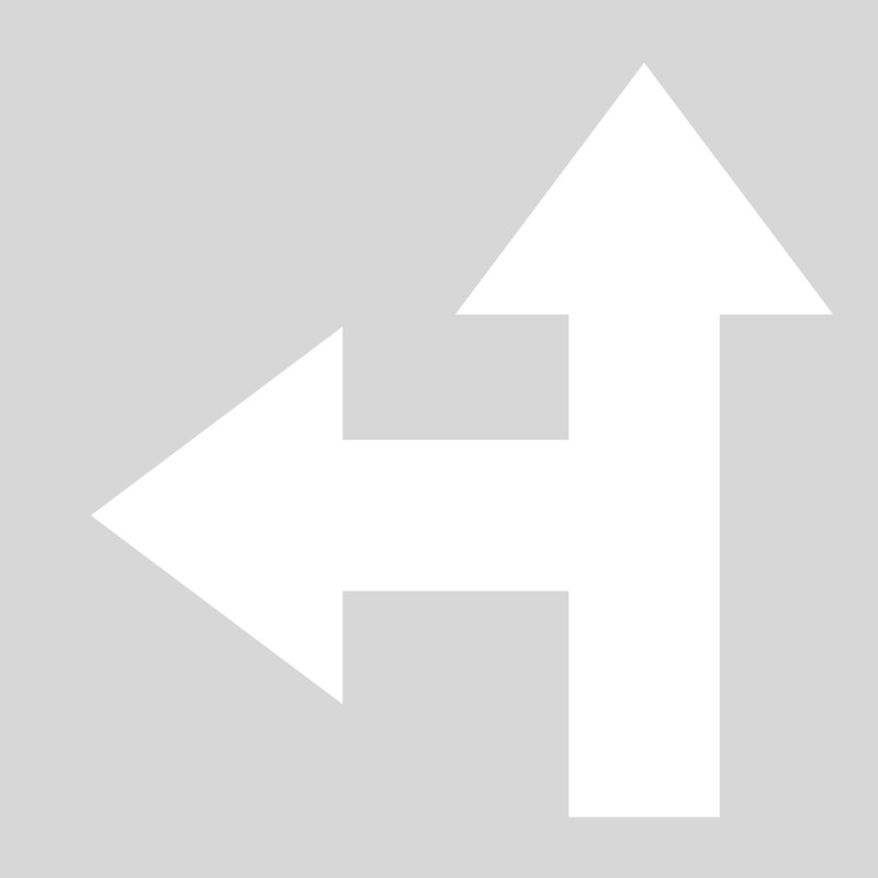 Plantilla pintar flechas 2 direcciones izquierda-frente