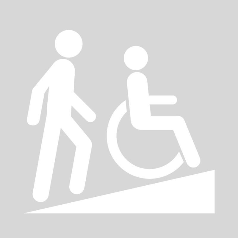 Plantilla pintar señal rampa silla de ruedas