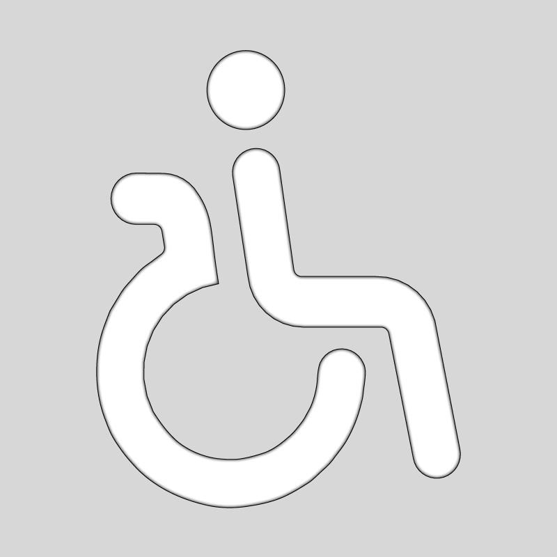Plantilla pintar señal discapacitados