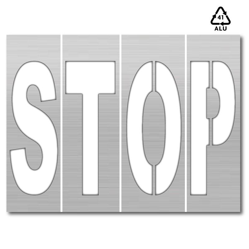 Plantilla pintar señal STOP (letras sueltas)