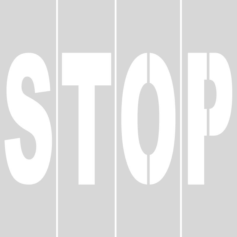Plantilla STOP (letras sueltas) polipropileno, pvc, aluminio o metal ...