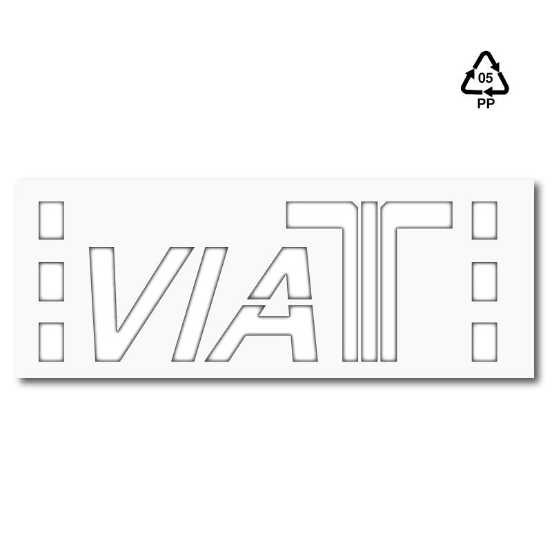 Plantilla pintar señal Viat T - Telepeaje