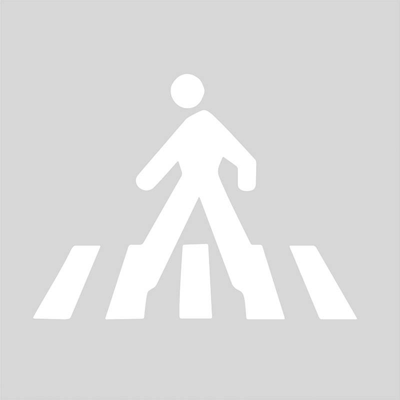 Plantilla para pintar y marcar signo paso peatonal polipropileno ...