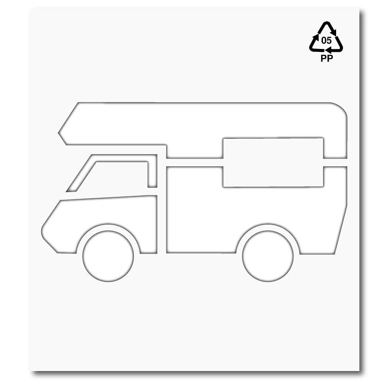 Plantilla rotulacion senal reserva acceso caravana