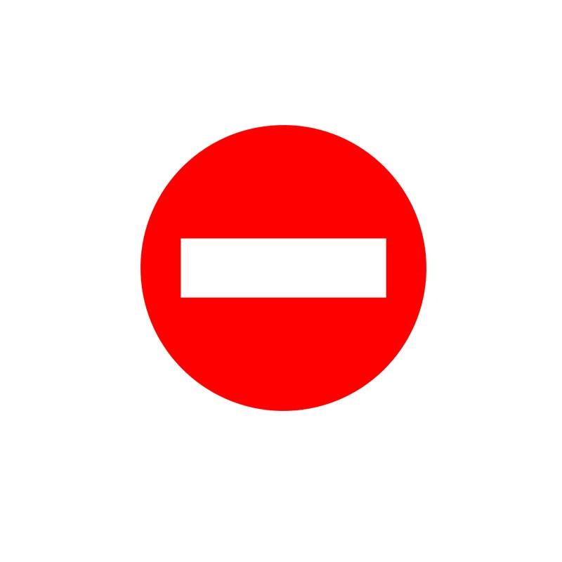 Señal para Educación Vial - Prohibido el paso
