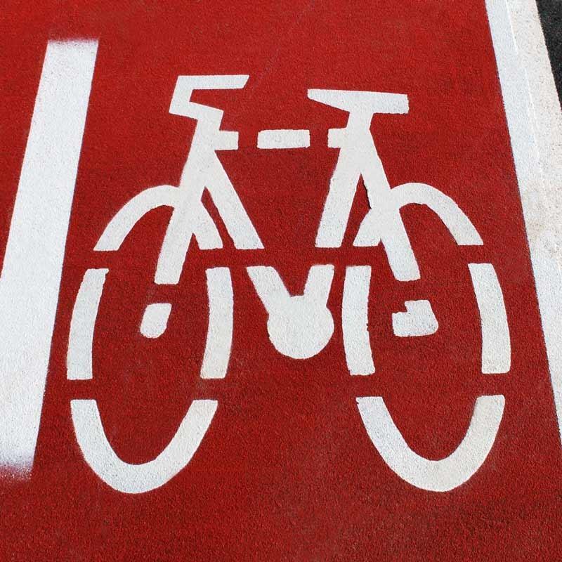 Marca simbolo bicicleta carril bici