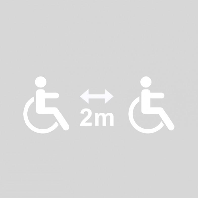 Plantilla pintar señal 2 metros entre personas con discapacidad