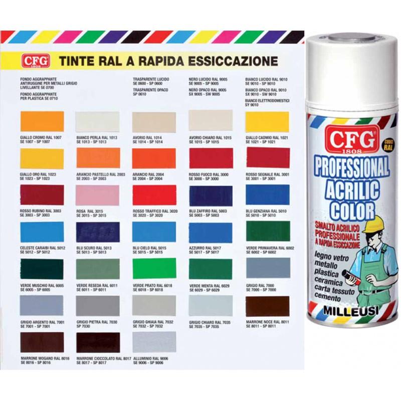 Sprays Profesional aerosoles Colores